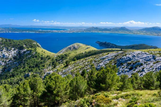 Visya general de costa de Pollença y Alcudia en Mallorca