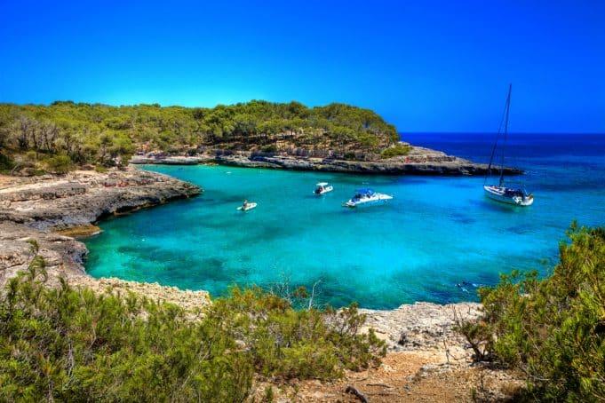 Vista playa de Mallorca