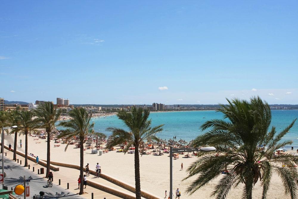 PLaya, paseo marítimo Can Pastilla-S'Arenal, Mallorca