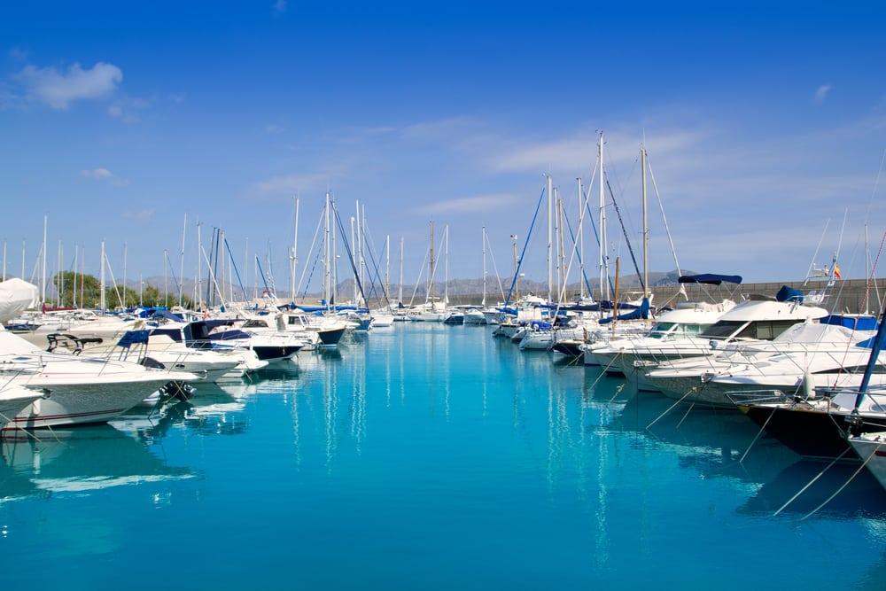 Puerto deportivo en Alcudia, Mallorca